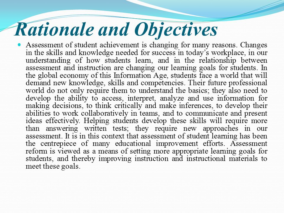 Rationale and Objectives