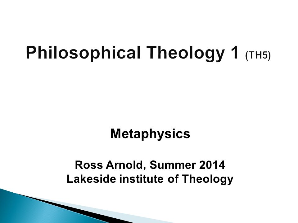 Philosophical Theology 1 (TH5)