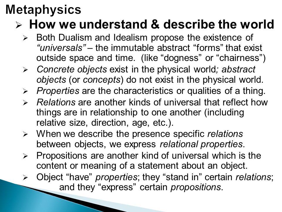 How we understand & describe the world