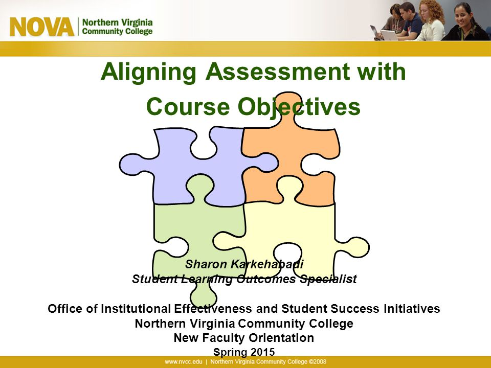 Aligning Assessment with Course Objectives