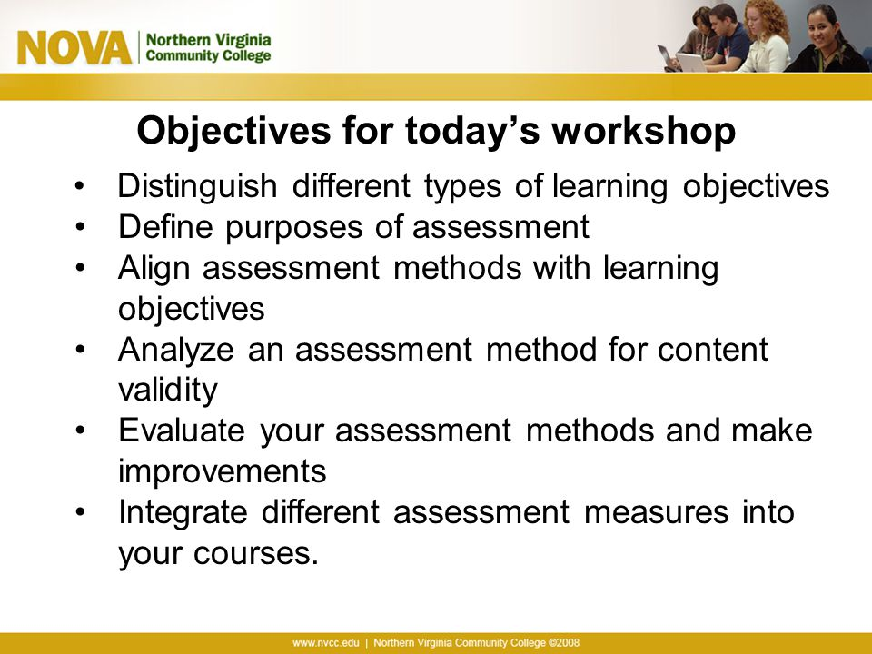 Objectives for today's workshop