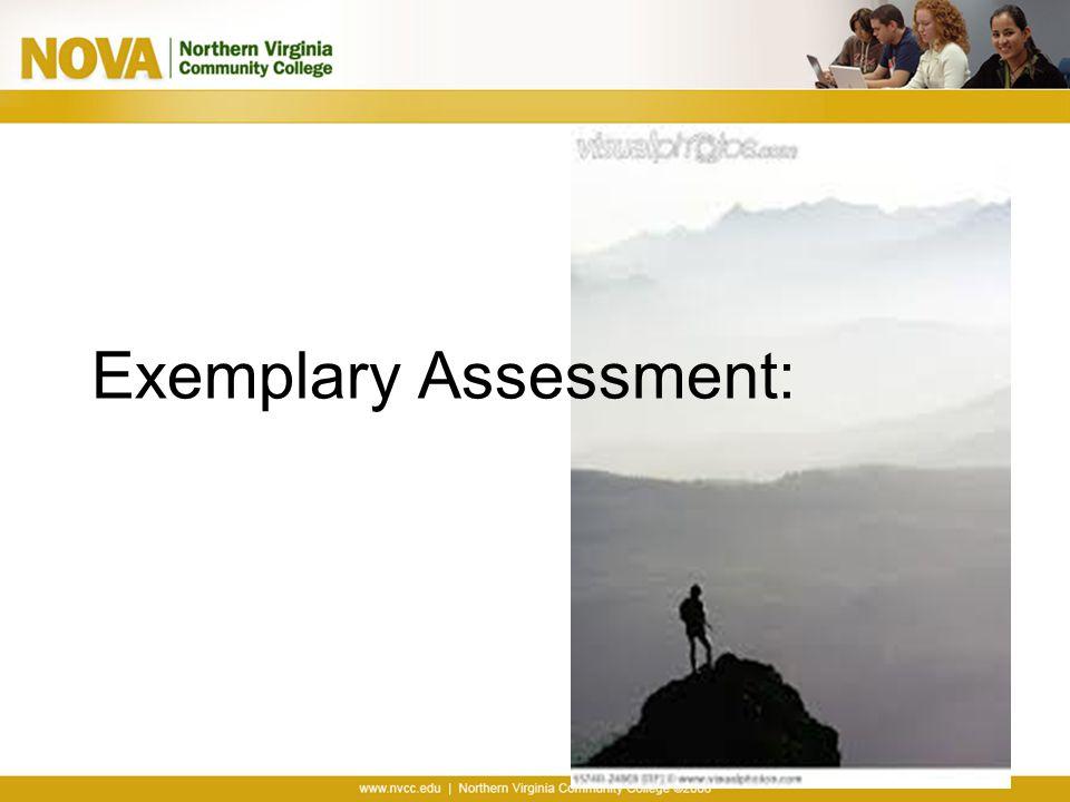 Exemplary Assessment: