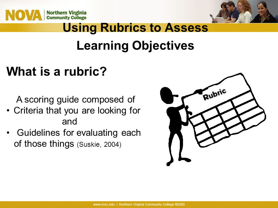 Using Rubrics to Assess Learning Objectives