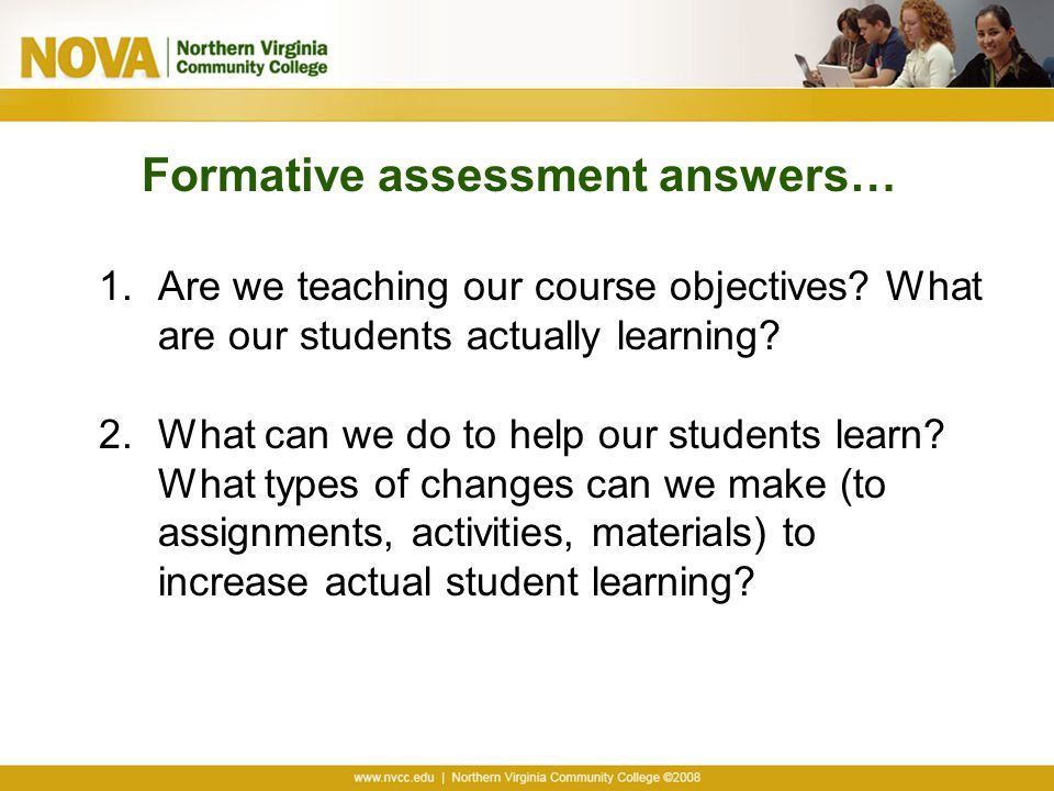 Formative assessment answers…