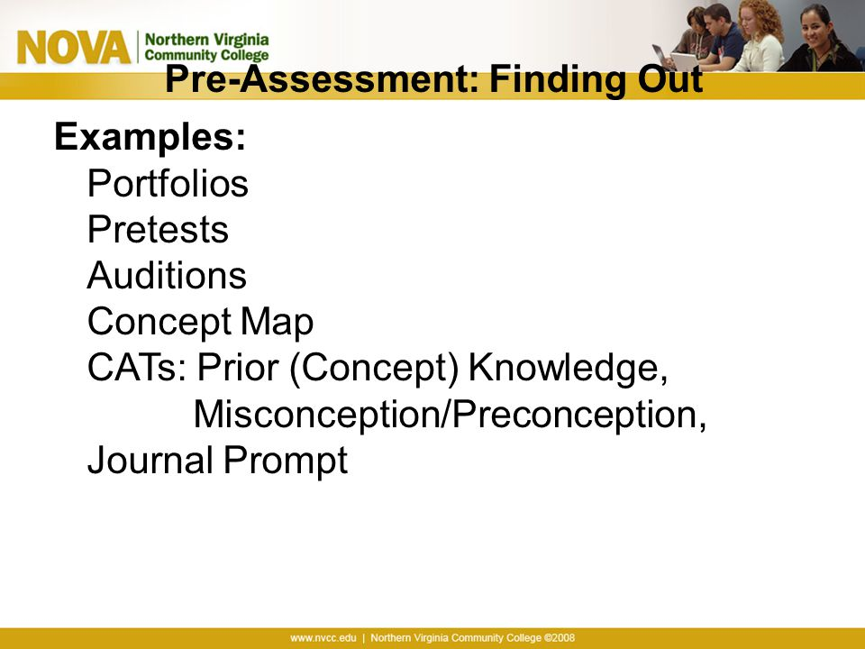 Pre-Assessment: Finding Out