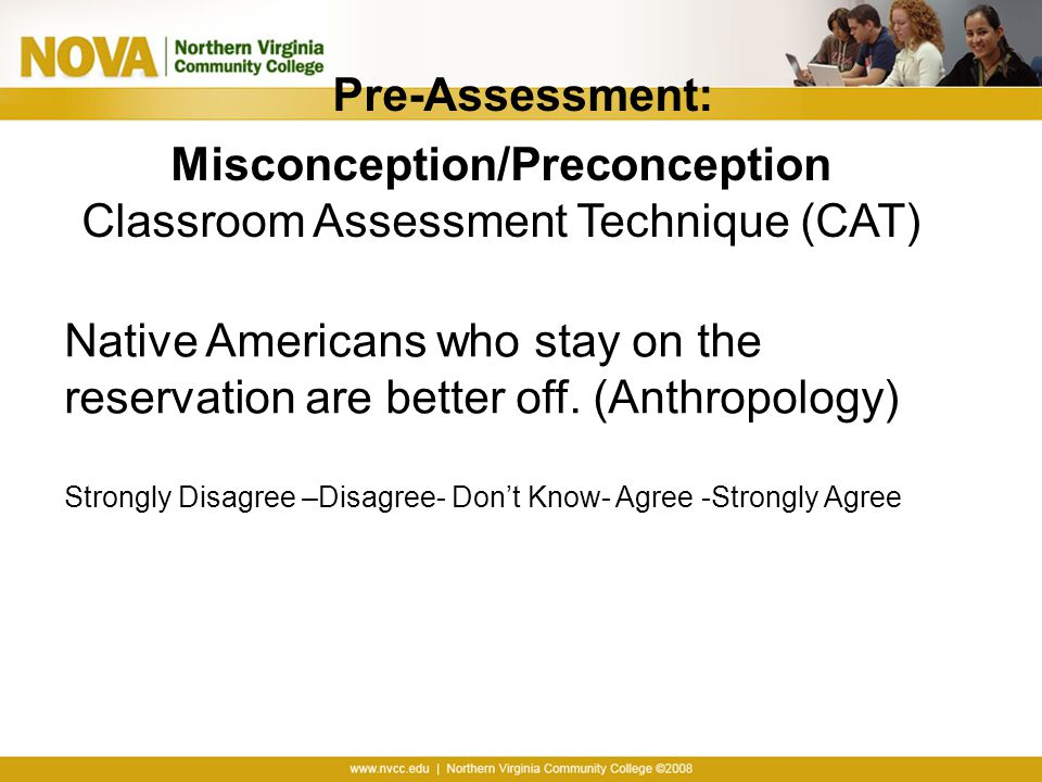 Misconception/Preconception
