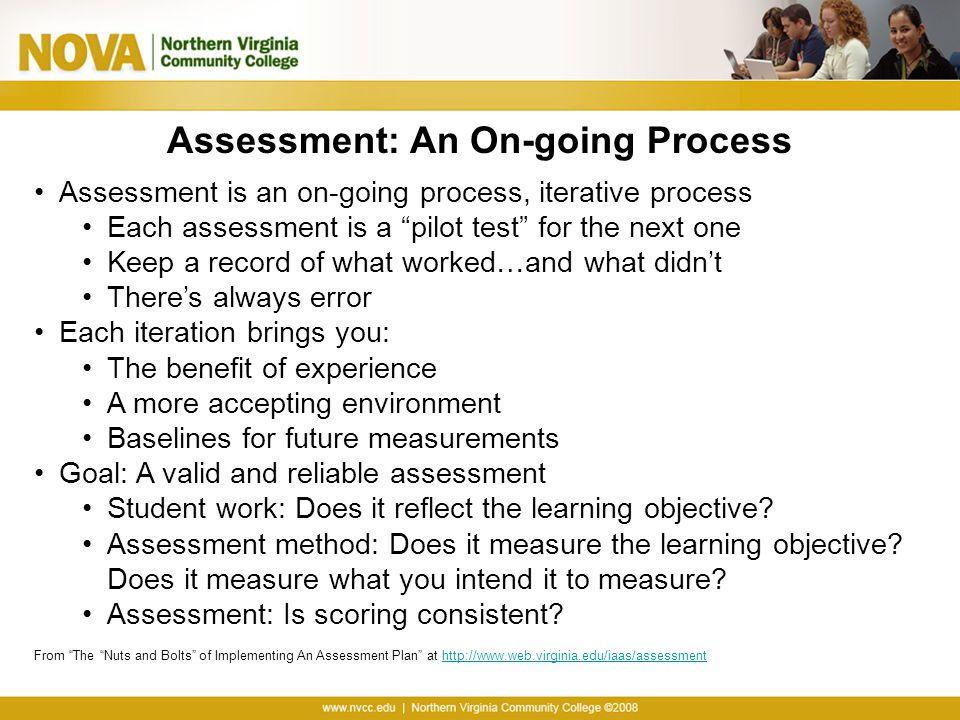 Assessment: An On-going Process