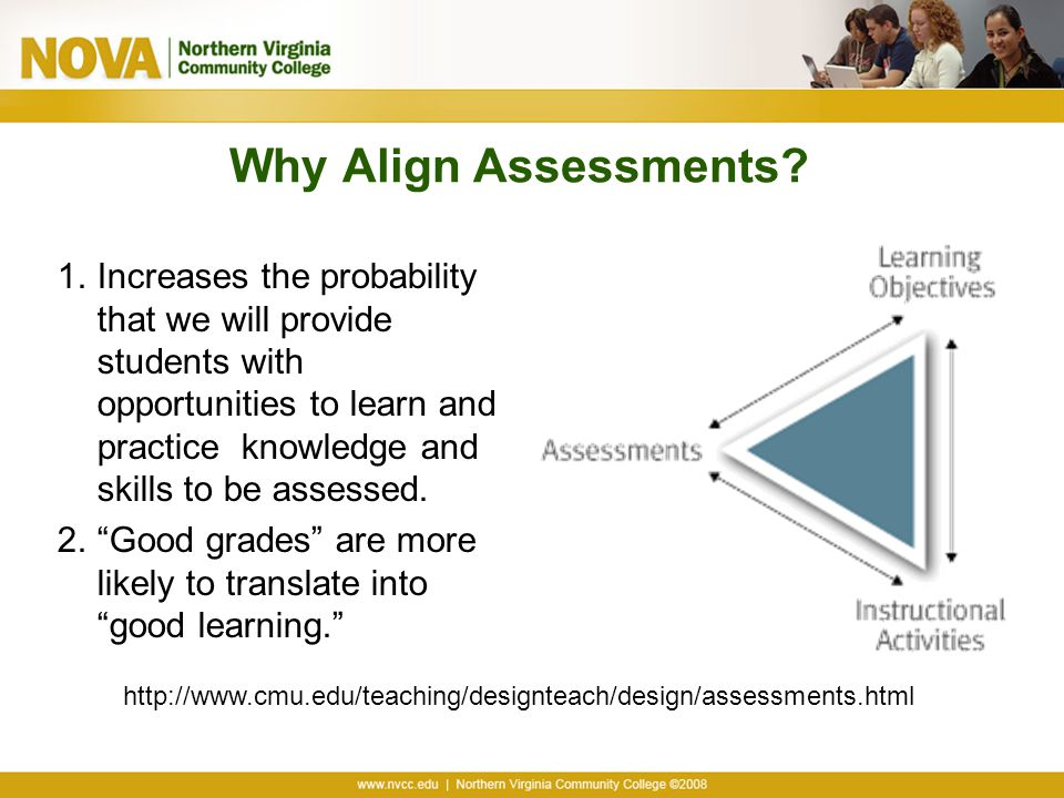 Why Align Assessments