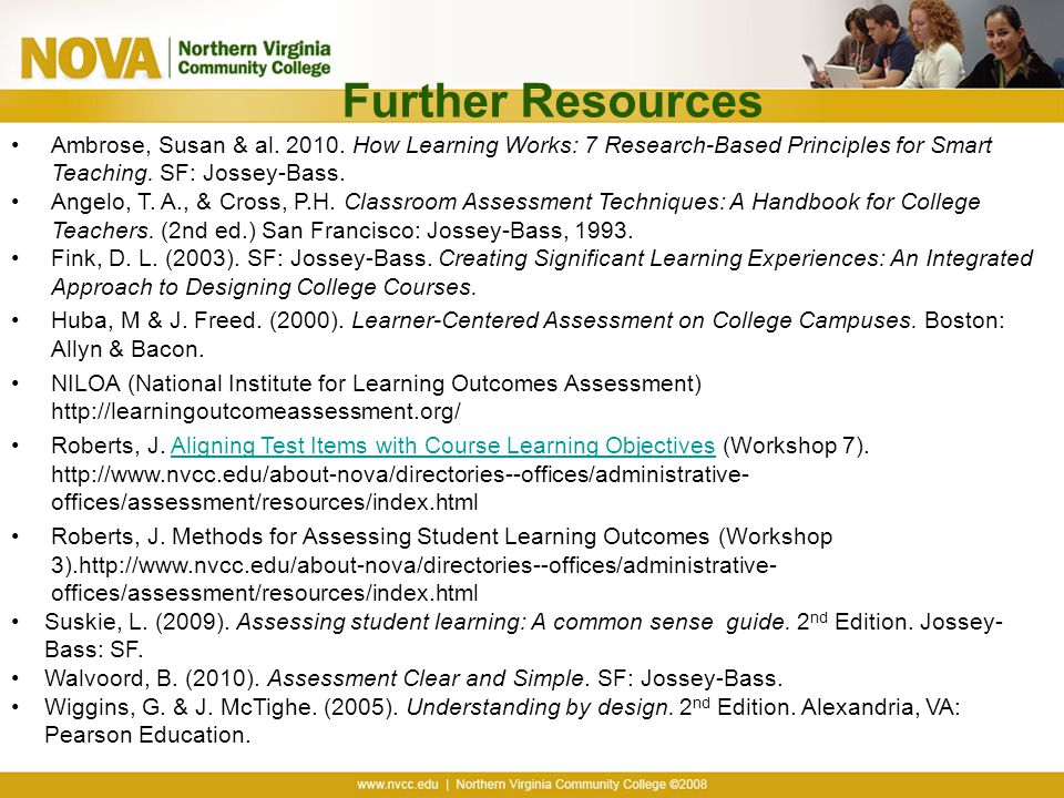 University Classroom Design Principles To Facilitate Learning ~ Aligning assessment with course objectives ppt download