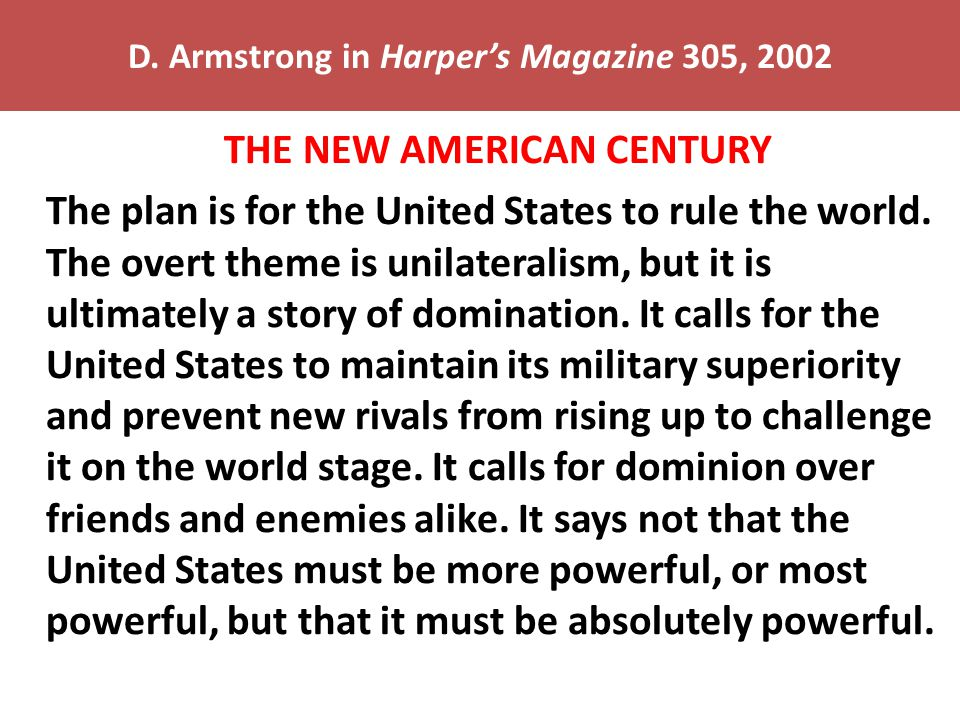 D. Armstrong in Harper's Magazine 305, 2002