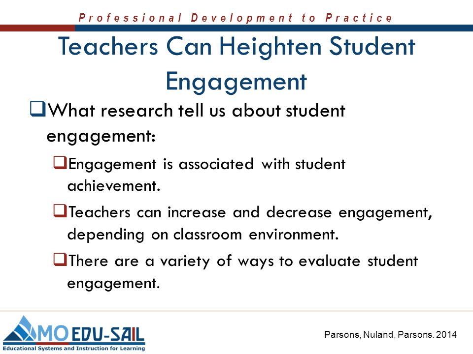 Teachers Can Heighten Student Engagement