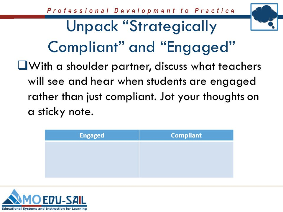 Unpack Strategically Compliant and Engaged