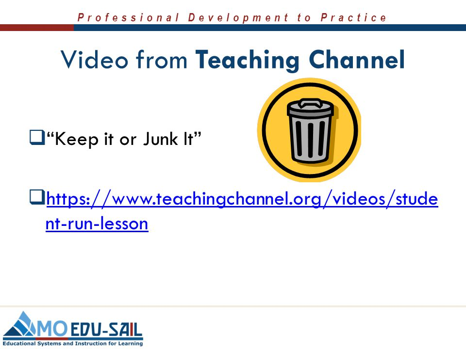 Video from Teaching Channel