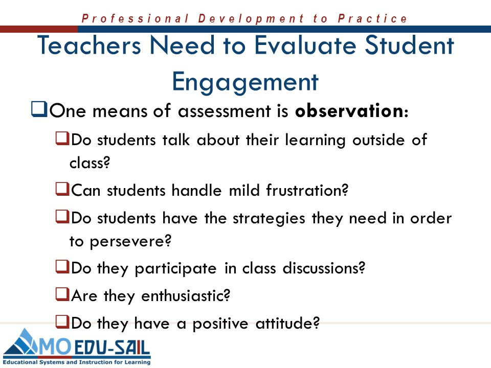 Teachers Need to Evaluate Student Engagement