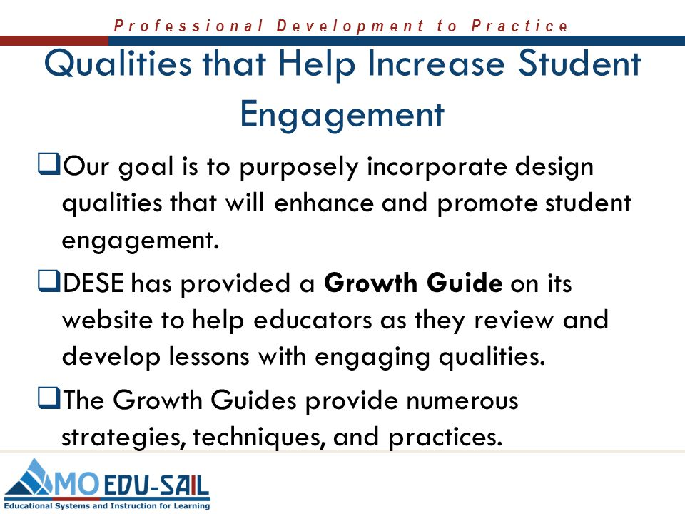 Qualities that Help Increase Student Engagement