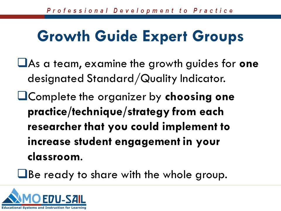 Growth Guide Expert Groups