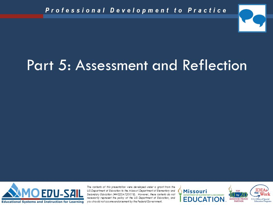 Part 5: Assessment and Reflection