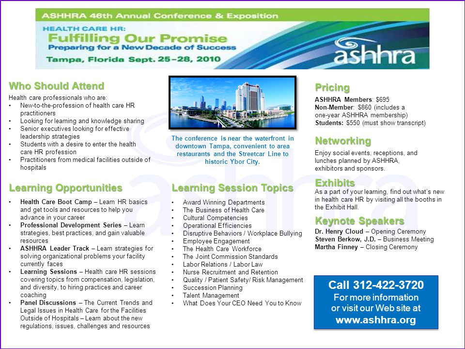 or visit our Web site at www.ashhra.org