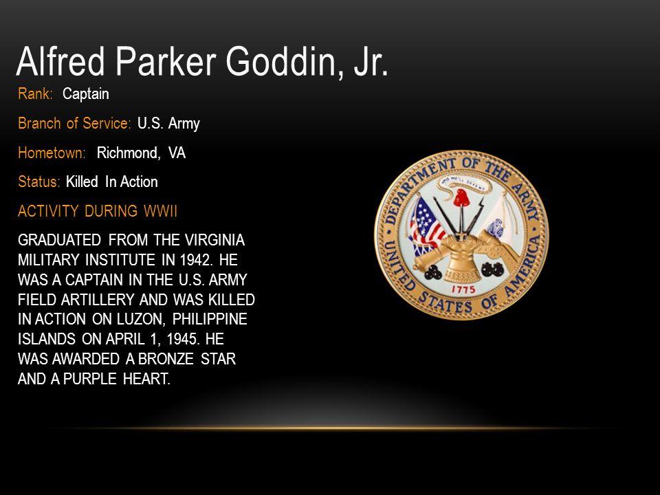 Alfred Parker Goddin, Jr.