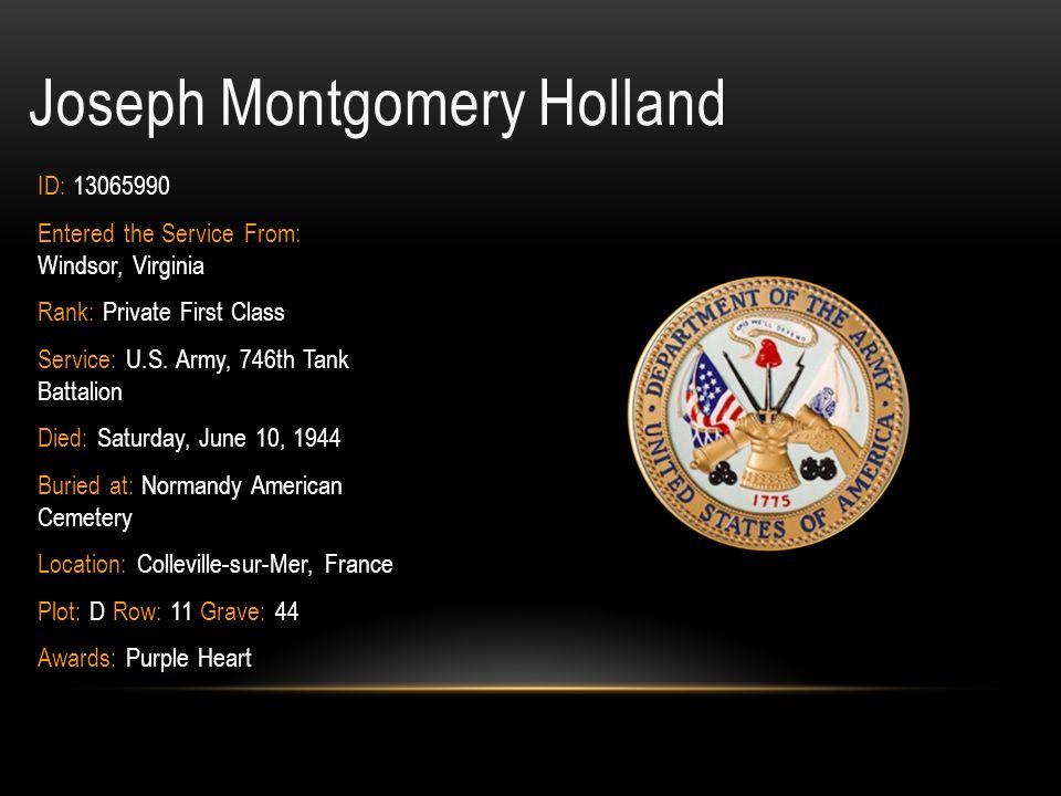 Joseph Montgomery Holland