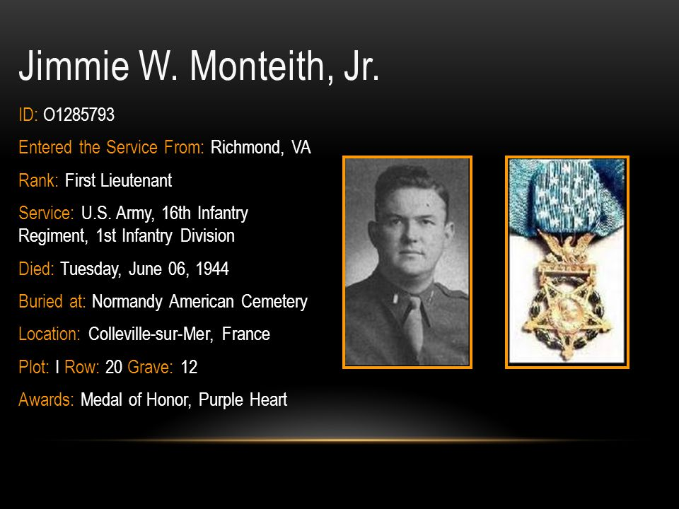 Jimmie W. Monteith, Jr. ID: O1285793