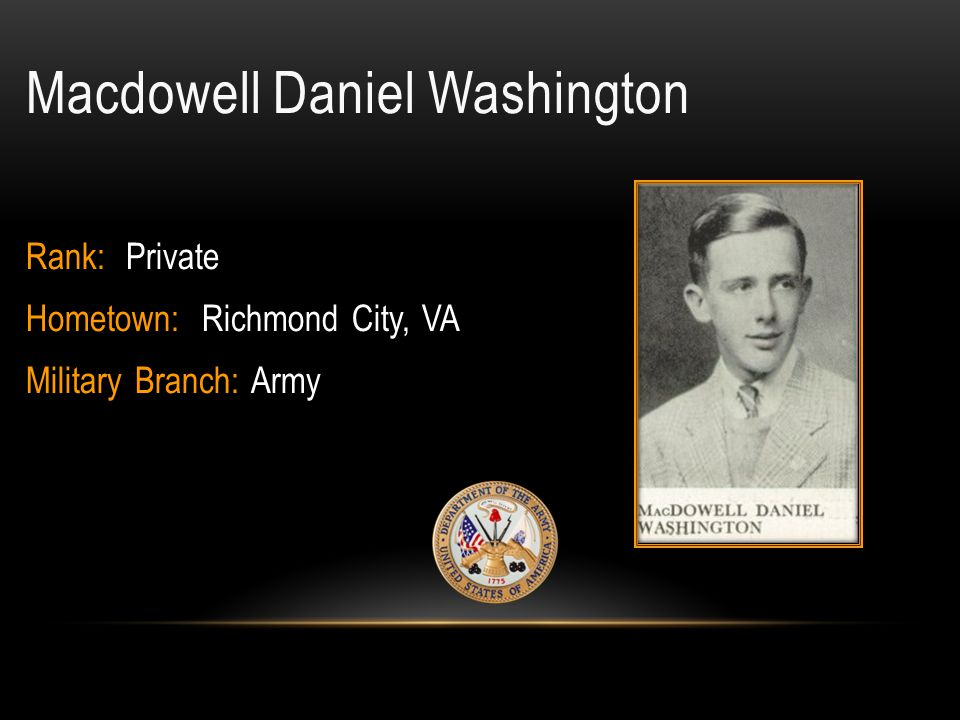 Macdowell Daniel Washington