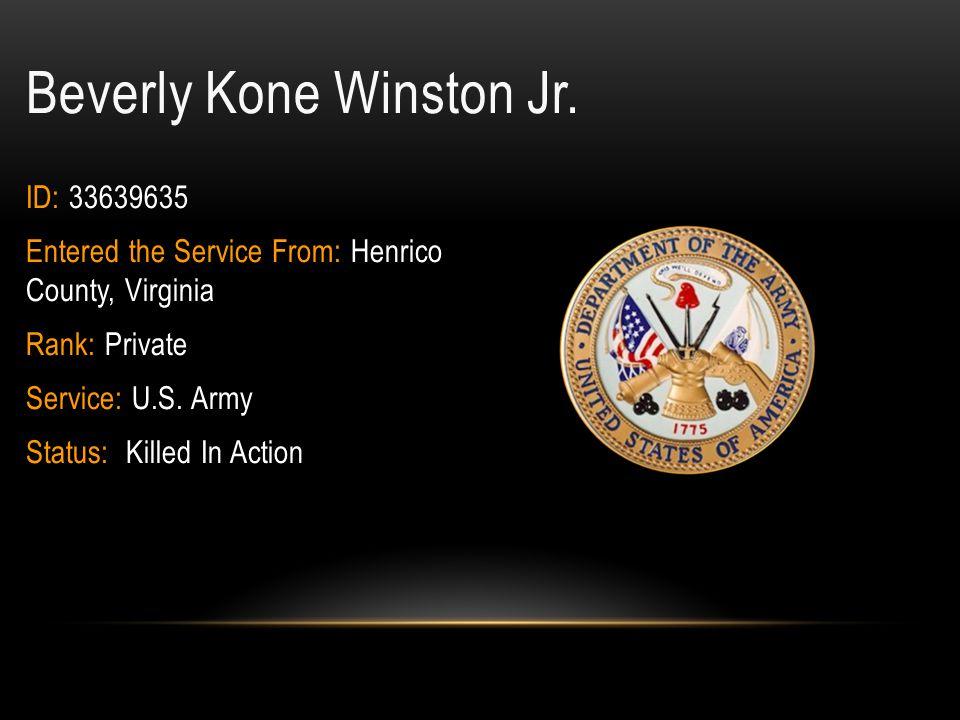 Beverly Kone Winston Jr.