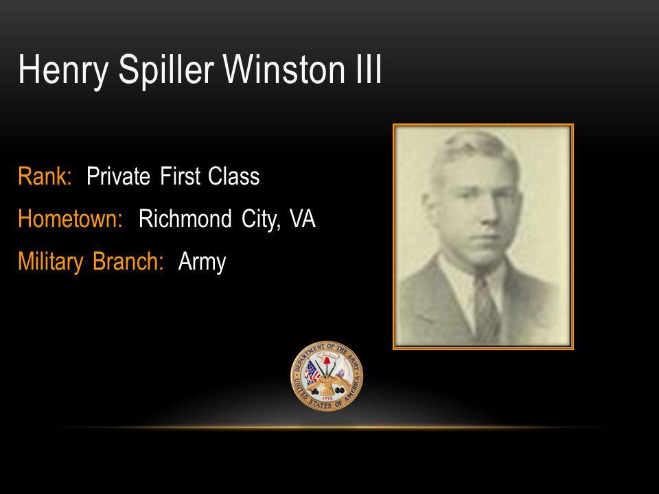 Henry Spiller Winston III