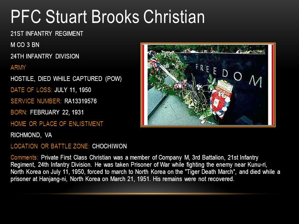 PFC Stuart Brooks Christian