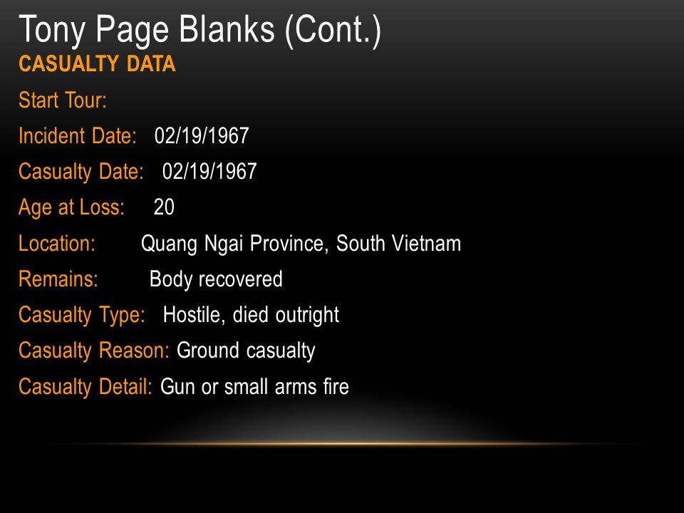 Tony Page Blanks (Cont.)