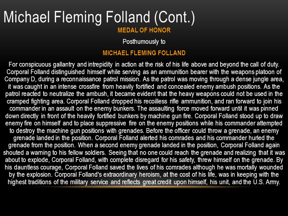 Michael Fleming Folland (Cont.)
