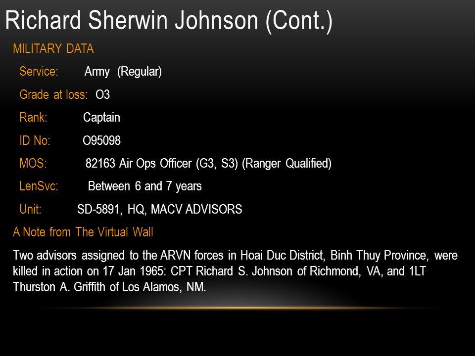 Richard Sherwin Johnson (Cont.)