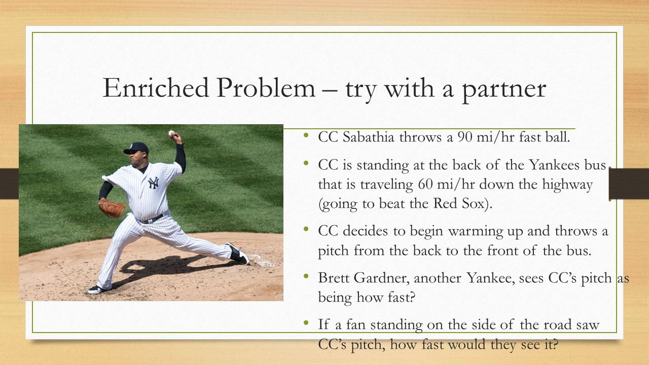 Enriched Problem – try with a partner