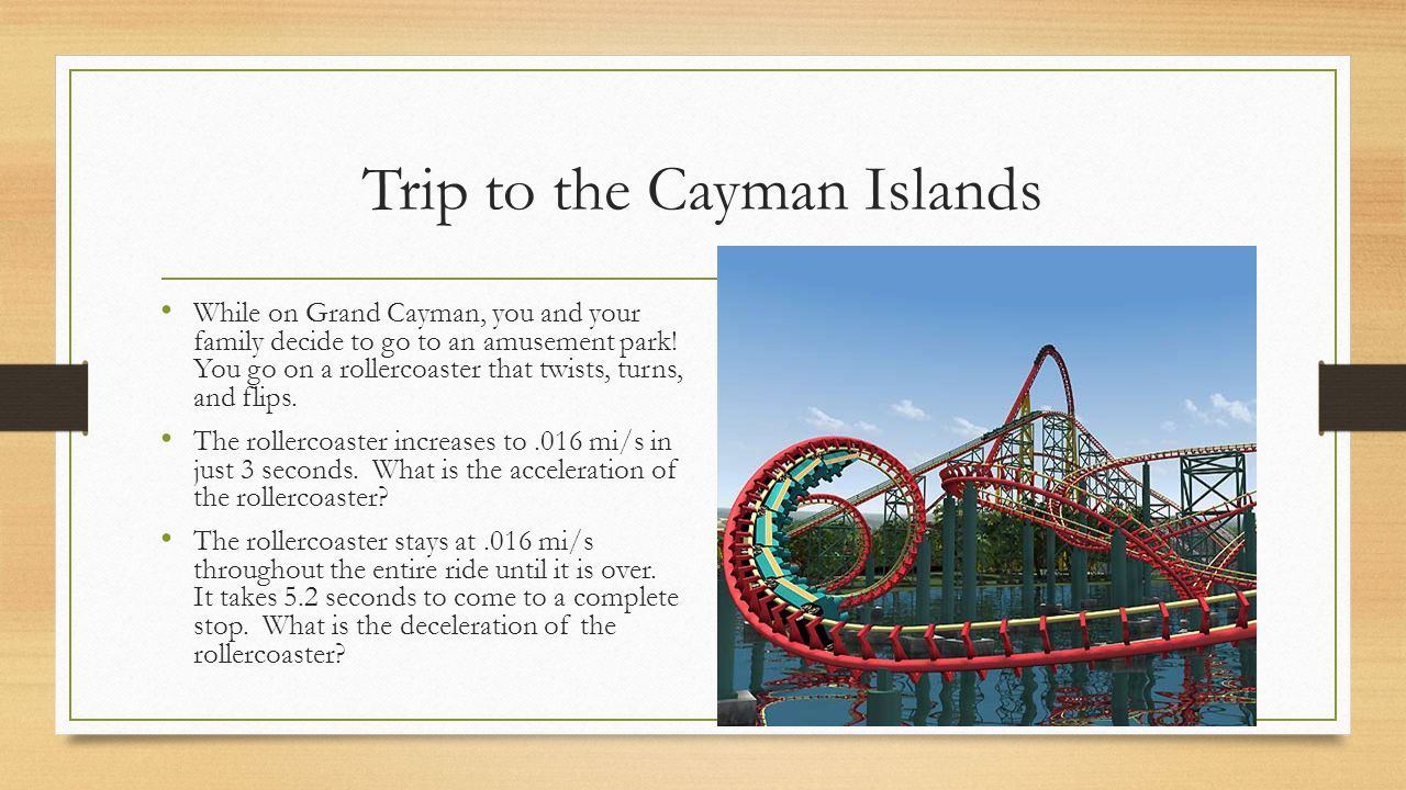 Trip to the Cayman Islands