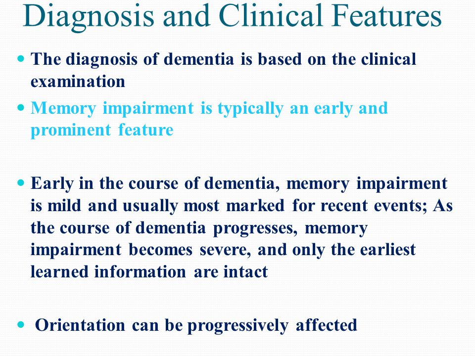 Diagnosis and Clinical Features