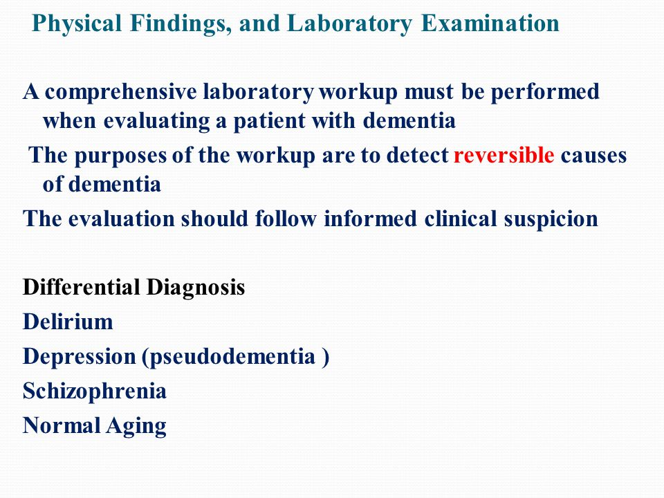 Physical Findings, and Laboratory Examination