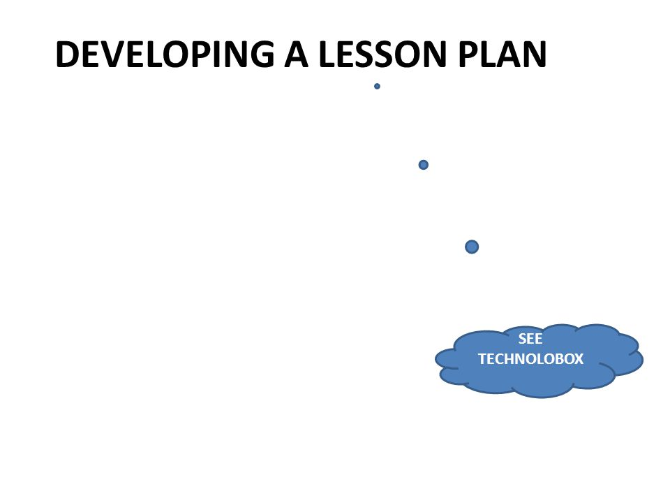DEVELOPING A LESSON PLAN