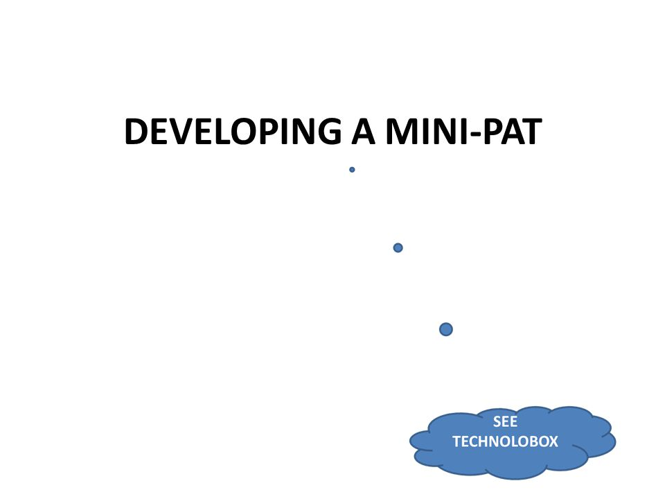 DEVELOPING A MINI-PAT