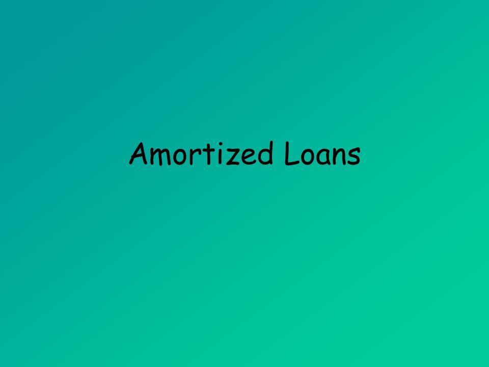 Amortized Loans (MAT 142) Amortized Loans
