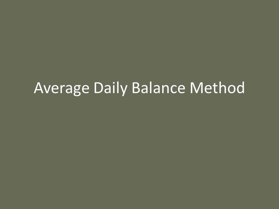Average Daily Balance Method