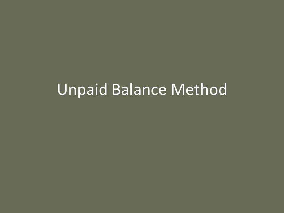 Unpaid Balance Method