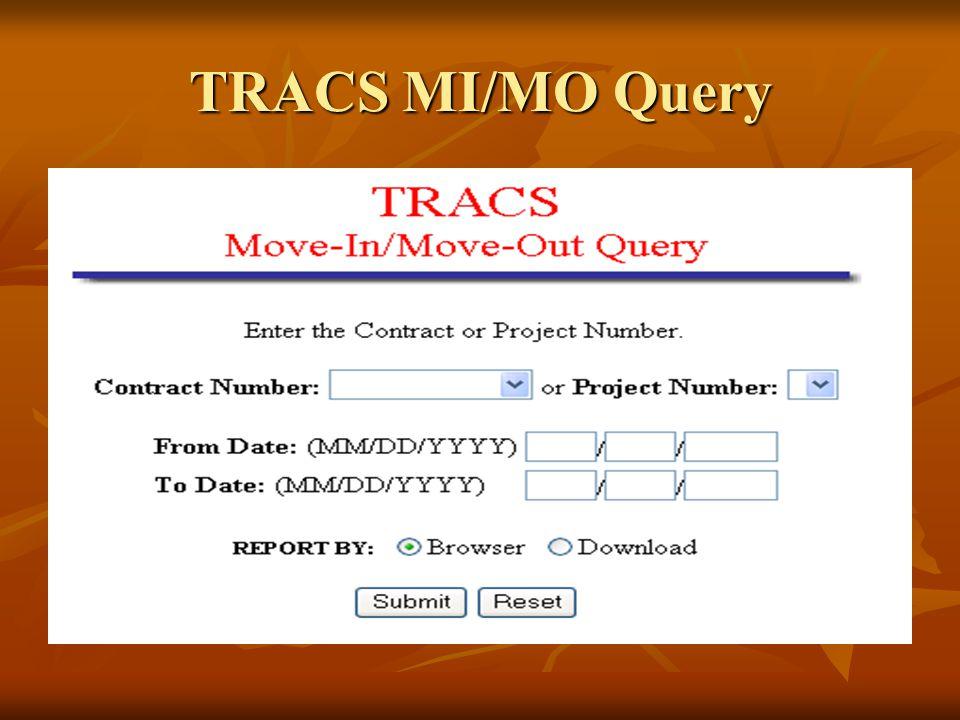 TRACS MI/MO Query