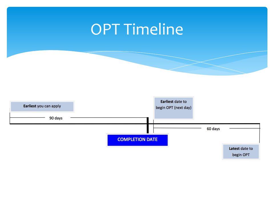 OPT Timeline
