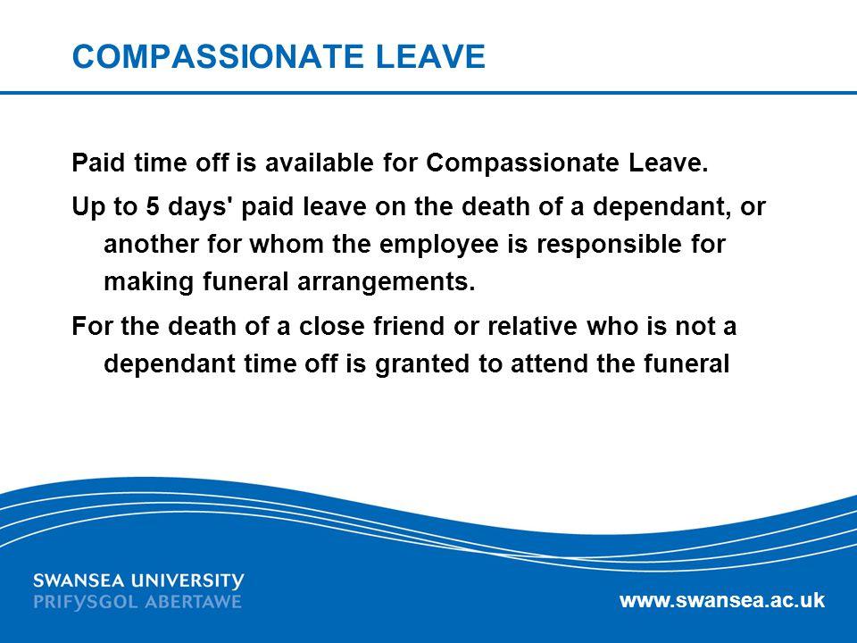 COMPASSIONATE LEAVE