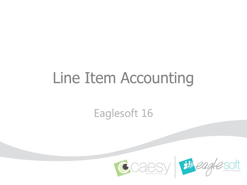 Line Item Accounting Eaglesoft 16