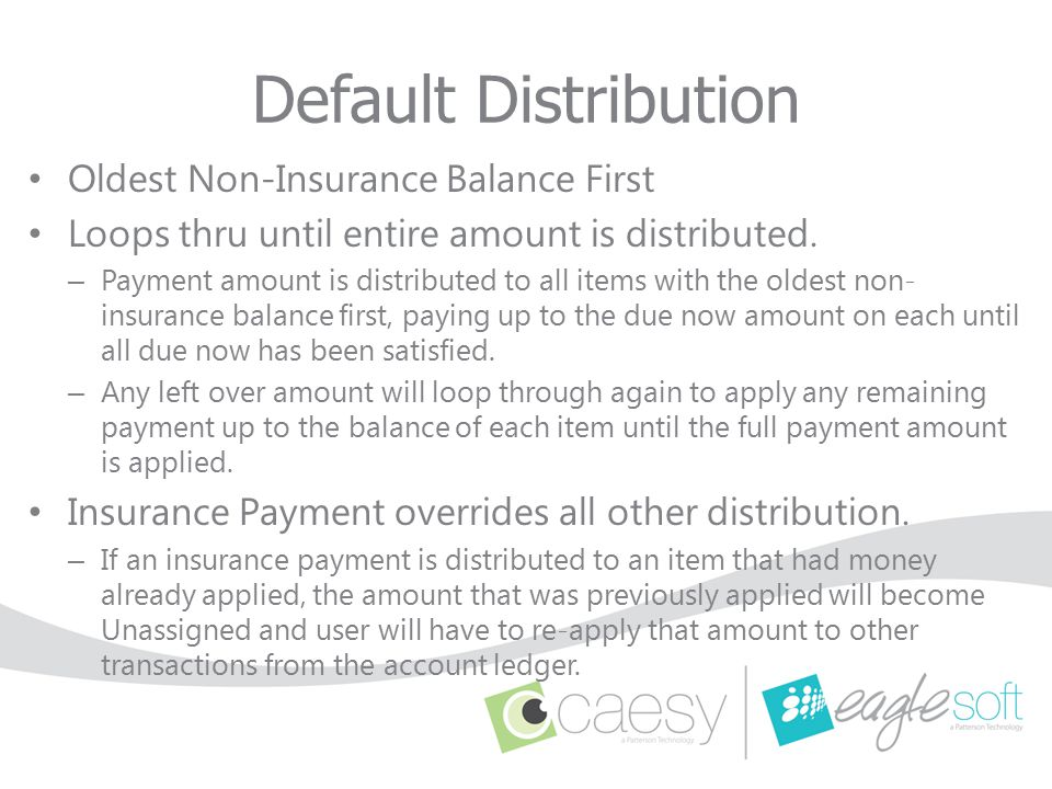 Default Distribution Oldest Non-Insurance Balance First