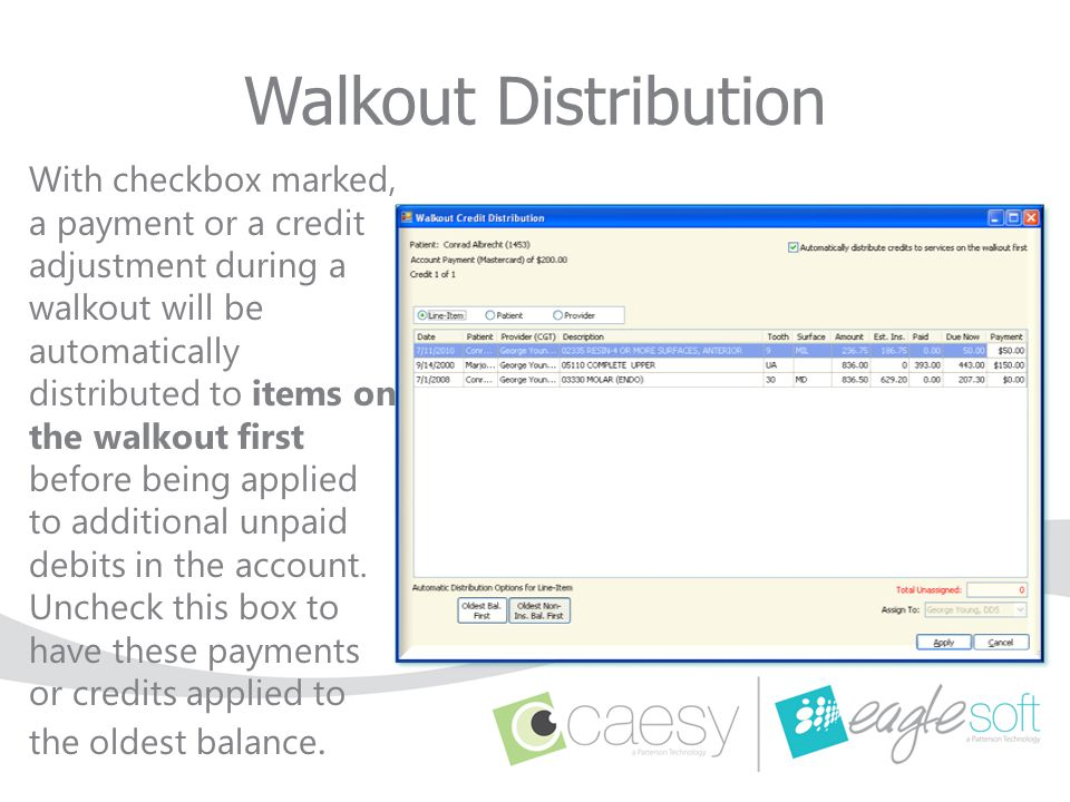 Walkout Distribution