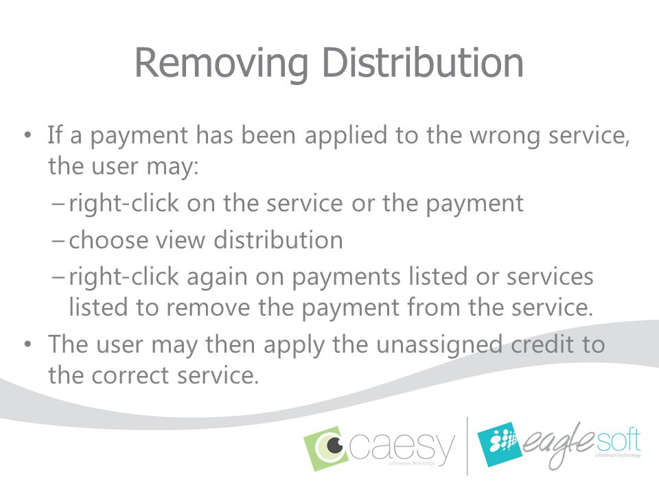 Removing Distribution