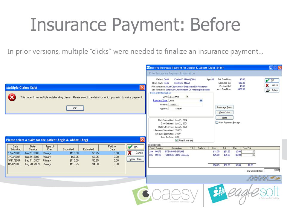 Insurance Payment: Before