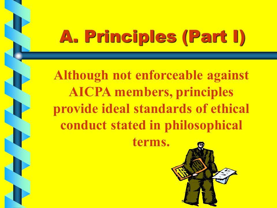 A. Principles (Part I)